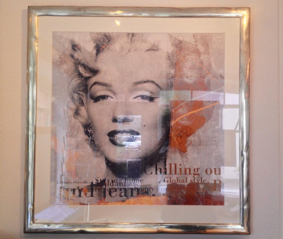 Marilyn Monroe in Weissgold – Rahmenatelier & Vergolderei Maschera d\'Oro