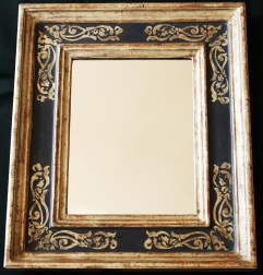 Renaissancerahmen weissgold mit radiertem Ornament